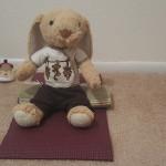 Hoppy meditating