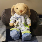 Hoppy gets ready for bed early