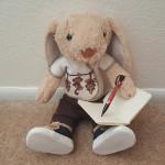 hoppy writing in journal
