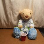 hoppy drinking his water