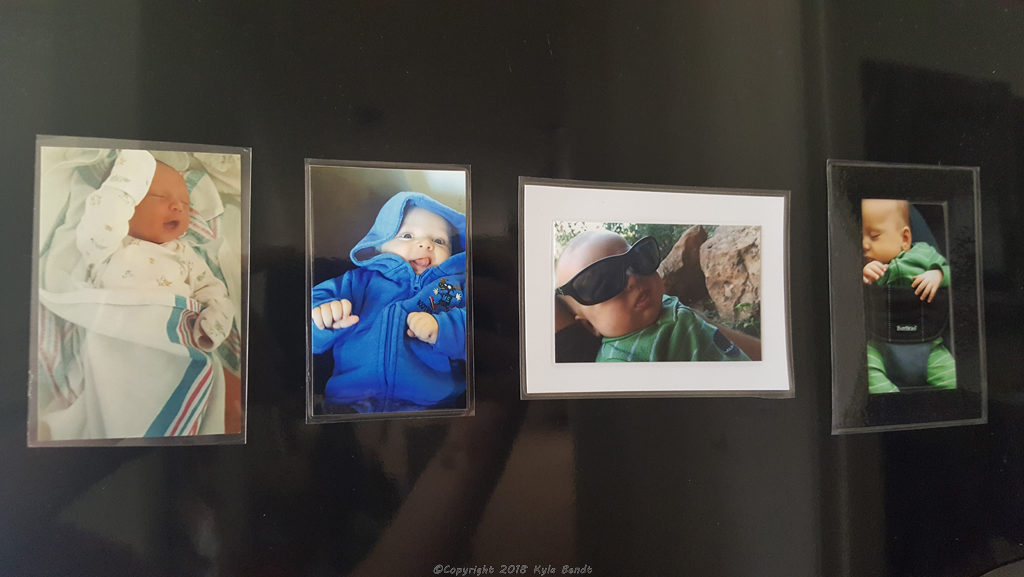 laminator project- laminated picture magnets.
