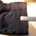 how to hem pants: step 2: folding and pinning