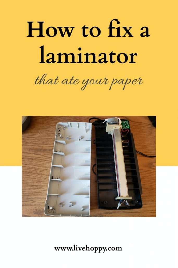 how to fix a laminator